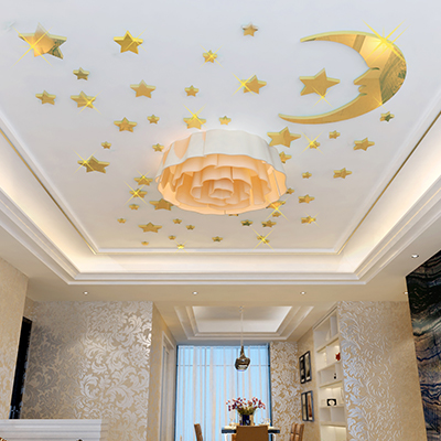 New Arrival Cartoon Moon Stars 3d Crystal Mirror Three Dimensional Wall Stickers  Ceiling Wall Stickers Child Room Decoration In Wall Stickers From Home ...