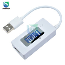 LCD USB Current Voltage Charging Tester with USB Extension Cable Mini Digital Display Mobile Power Charger Detector For Phone mini qi standard mobile wireless power charger with usb cable white