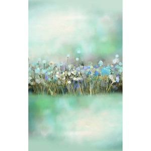 Image 3 - Allenjoy 사진 봄 배경 퍼지 녹색 유화 꽃 bokeh 배경 사진 스튜디오 아기 촬영 photocall