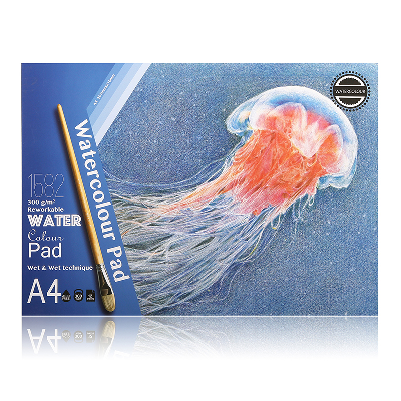 Premium Art Professional 300Gsm Watercolor Paint Paper Water Color Pencil Book Coloring Book For Designer Drawing Sketch Book