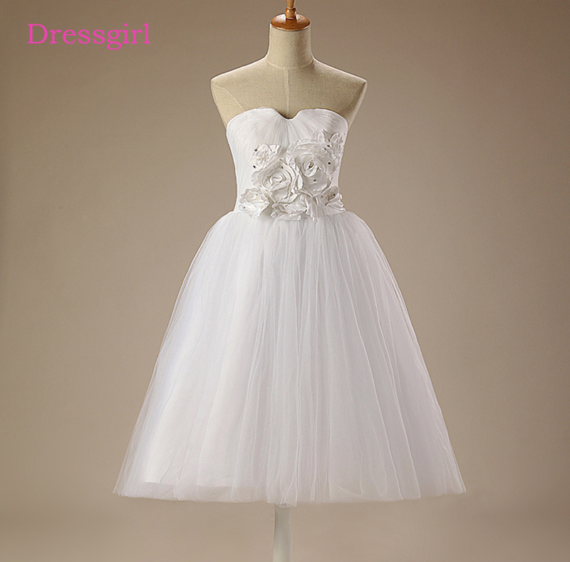 White 2019   Flower     Girl     Dresses   For Weddings A-line Sweetheart Tulle Crystals First Communion   Dresses   For Little   Girls