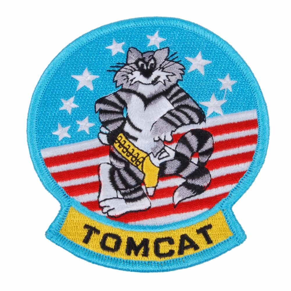 US UNITED STATES MILITARY TOMCAT EMBROIDERED PATCH