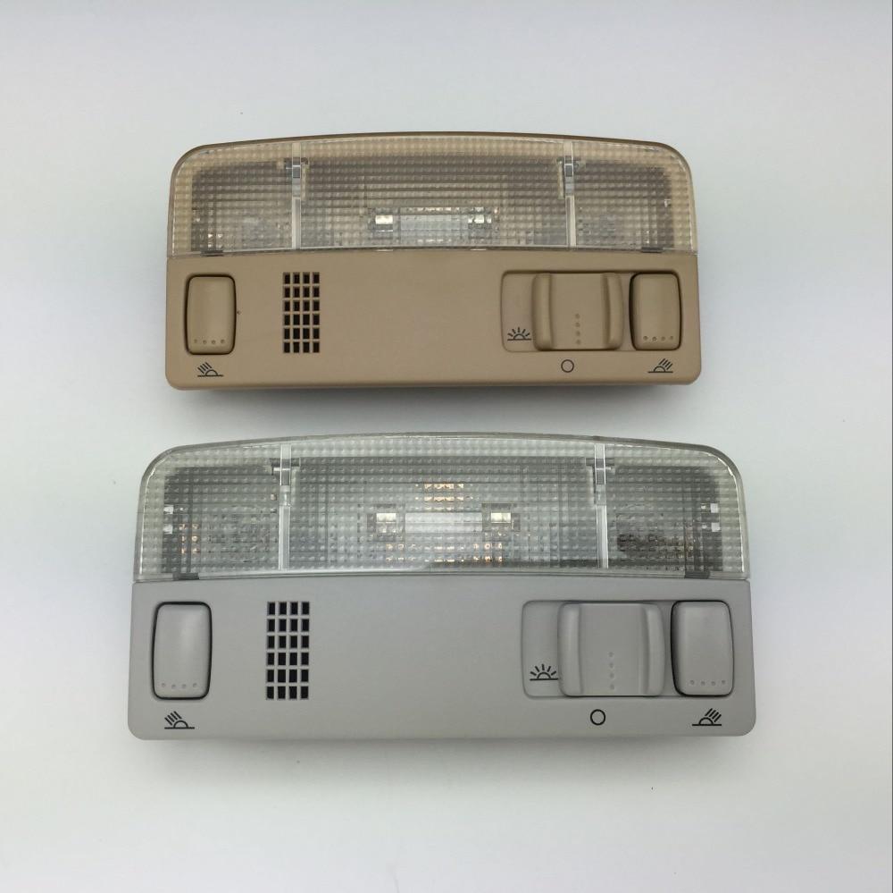 Para VW Passat B5 Golf MK4 Polo Touran Skoda Octavia Leitura Cúpula Lâmpada de luz de Cor Bege ou Cinza 1TD 947 105 3B0 947 105 C