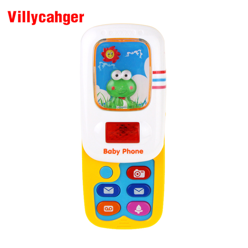 Funny Slider Phone Toy Baby Learning Study Musical Sound Phone Children Educational Toy Mobile Phone Electric Toy 1002