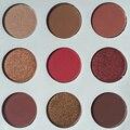 9 Cores/Set NEW make up kyli paleta da sombra de olho O Bronze e Borgonha Cosméticos Paleta Fosco Sombra de Olho Paleta de sombra