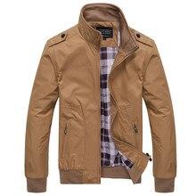 цены на 2018  New Fashion coat Spring Autumn Men's Jackets Solid Coats Male Casual Stand Collar Jacket chic Men Overcoat M-XXXXL  в интернет-магазинах