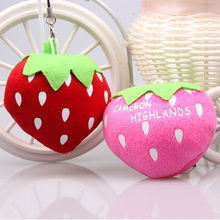 2pcs LOTS Cute Fruit Strawberry Small Plush Doll Wedding Throwing Gifts Plants Stuffed Toys For