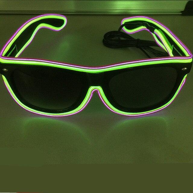 Moda Dess del EL del Led vasos luminosos Doble color gafas para Realizar juguetes especiales herramientas del banquete de boda suministros de conciertos