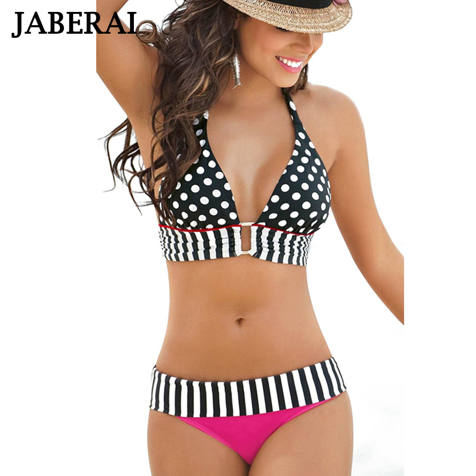 JABERAI Swimwear Women Sexy Bikini 2019 Brazilian Bikini Set Strappy Halter Bathing Suit Push Up Swimsuit Domaillot De Bain