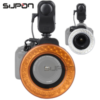 SUPON W48 Ring Flash 200LM LED Macro Ring Flash Lighting with Ring Diffuser Filter 49mm/52mm/55mm/58mm/62mm/67mm for DSLR Camera