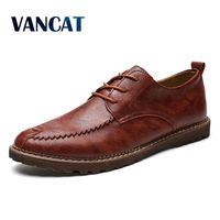 Vancat New 2018 Handmade Genuine Leather Men Shoes Casual shoes Leisure Mens Flats Male Moccasins Men Oxford Shoes Luxury Brand