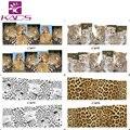 BLEM75-78 animal nail art sticker calcomanías de agua de la cubierta completa pegatinas de uñas accesorios estampado de leopardo