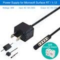 Kl marca 48 w fonte de alimentação para microsoft surface rt superfície 1 Superfície 2 AC Adaptador de Alimentação Carregador Universal Plug Adapter presente