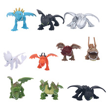 10Pcs Dragon Toothless Action figure Light Fury Toys For Childrens Birthday Gifts