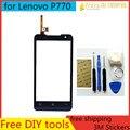 Novo original para lenovo p770 touch screen digitador peças de reposição de peças de substituição da tela externa em preto e branco