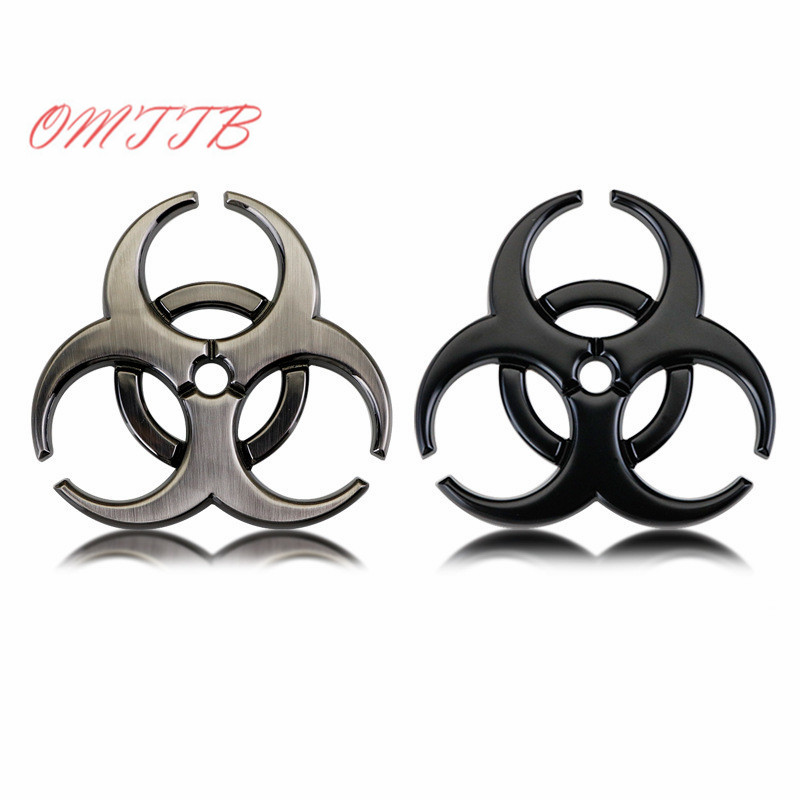 3D Metal Resident Evil Biohazard Car Emblem Car Stickers Decoration BIOLOGICAL HAZARD Decals Accessories Car Styling racing middle size resident evil decals bumper stickers for car