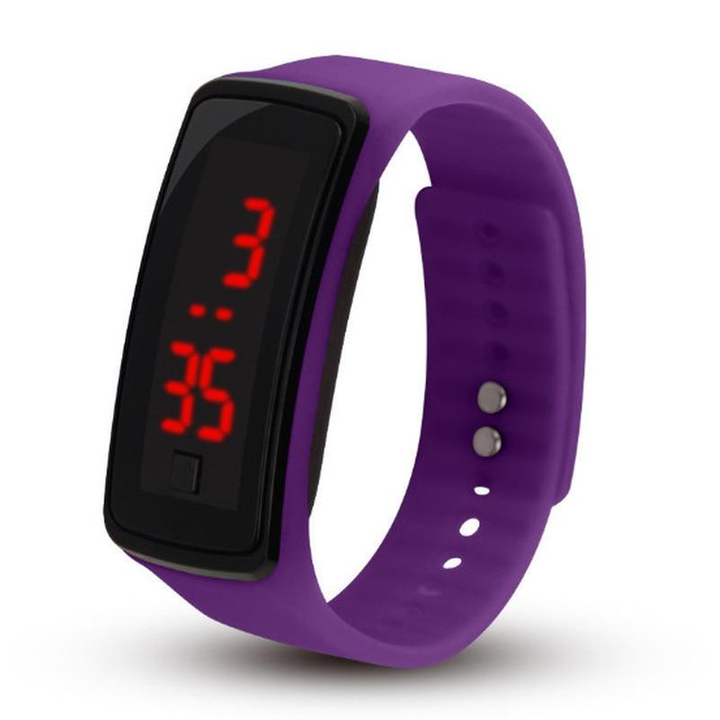 2018 New Fashion Silica gel LED Bracelet Digital Watches For Men&Ladies&Child Clock Womens Wrist Watch Unisex Sports Wristwatch