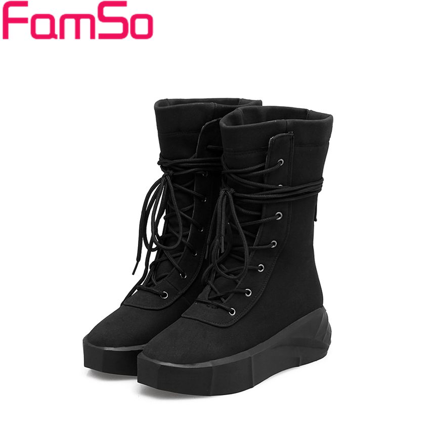 Plus Size 34 43 2016 New Classics black Spring Autumn Martin boots Red Female Riding Boots
