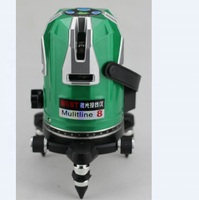 High precision 8 line green laser level