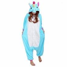 Adult Kigurumi Onesie Anime Women Costumes Cosplay Cartoon Animal Sleepwear Stitch Star Unicorn Pikachu Winter Warm Hooded 2018