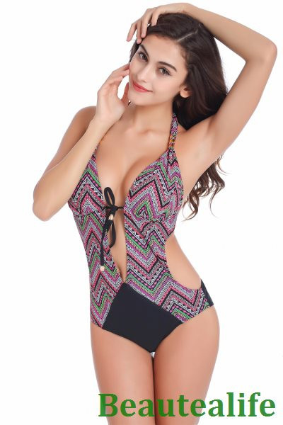 Sexy Bohemia One Piece Swimsuit Swimwear women monokini plus size swimwear women swim wear one piece bathing suit 3
