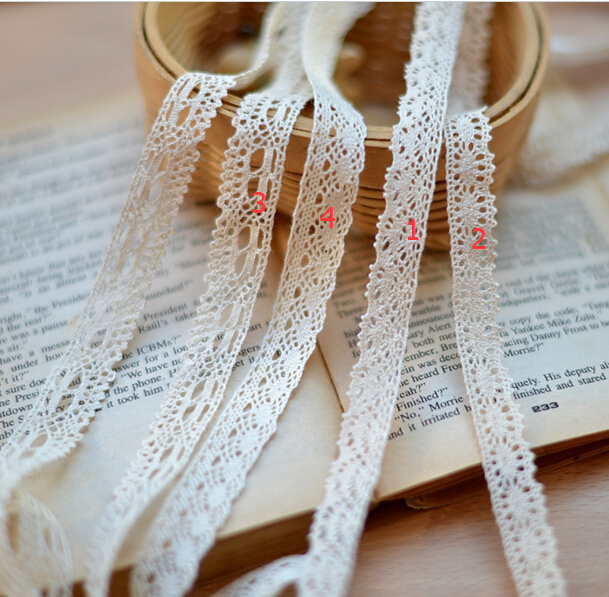 20 Meters High : Meters multi design beige cotton clothing lace trims
