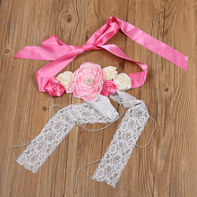 Pregnant Women Photography Photo Waist Belt Wedding Photography Props European And American Hot Selling Torn Flower Lace Fashion цена