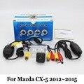 Cámara de Visión Trasera Para Mazda CX-5 CX5 CX 5 2012 ~ 2015/RCA con conexión de cable O Inalámbrica/HD CCD de Visión Nocturna/Lente Gran Angular Cámara