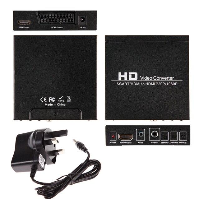 Scart/HDMI к HDMI 720 MonitorBox P 1080 P HD Video Converter для HDTV DVD СТБ L3EF