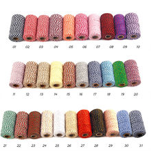 Two Colors Cotton Bakers Twine Rope Rustic Country Crafts Handmade Accessories Hot Sale High Quality 2019 New Patterns Modern(China)