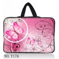 Pink Butterfly Customized Personality Laptop Bag Sleeve Case 9 7 10 1 12 13 14 15