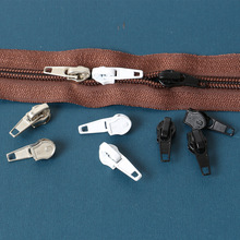 15pcs 5# Zinc Alloy Auto Lock Automatic Zipper Pull Sliders for Nylon Bag Bedding Sofa for  Tailors Sewing Accessories