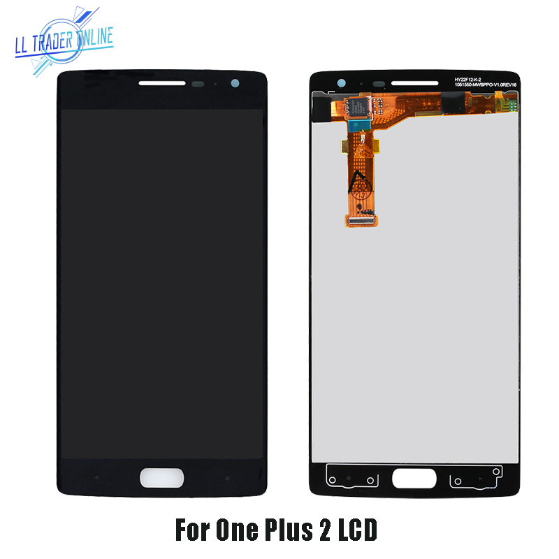 LL TRADER For <font><b>OnePlus</b></font> <font><b>2</b></font> LCD Display Touch <font><b>Screen</b></font> Panel Sensor for 1+ One Plus Two <font><b>2</b></font> Assembly Digitizer <font><b>Replacement</b></font> 5.5 inch+Tool image