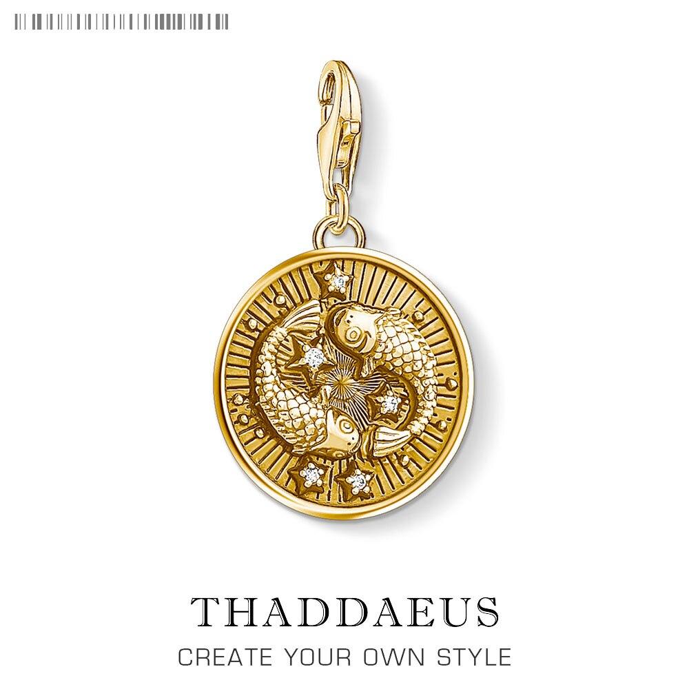 8c11e9f569fb Signo del zodiaco Pisces colgante dije para Mujeres Hombres 925 plata  esterlina joyería accesorios ...