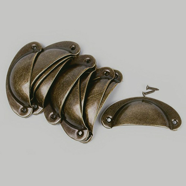 Antique Bronze Drawer Handle Cabinet Hardware shell Pull Handle Bin Cup  Handles And Pulls - Antique Bronze Drawer Handle Cabinet Hardware Shell Pull Handle Bin