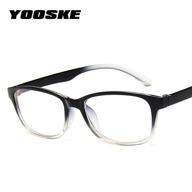 4301ef53e585 YOOSKE Clear Lens Optical Glasses Frame Women 2018 Eyeglasses Frames Men  Anti-radiation Spectacle Eye Glasses Frames for Womens