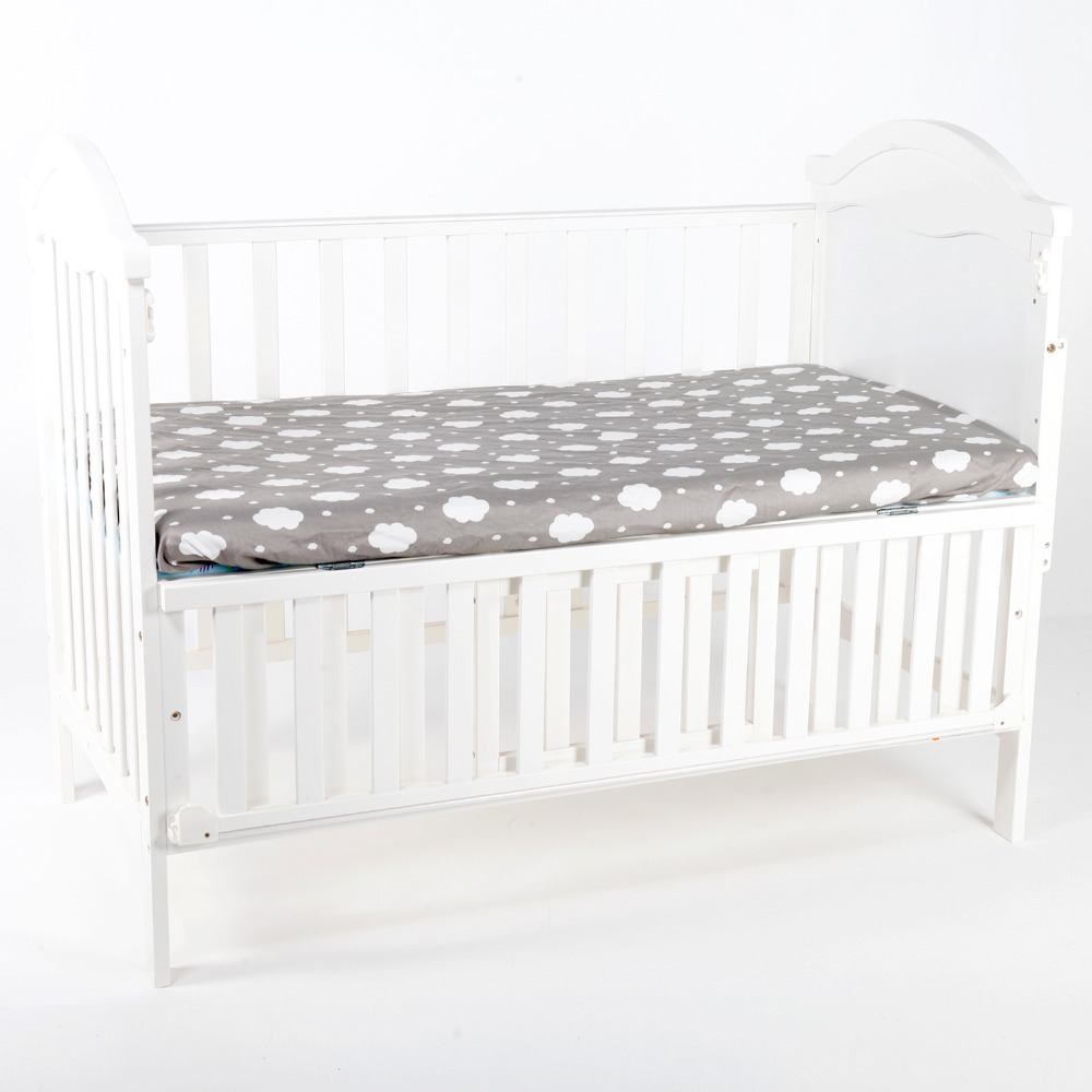 ainaan 100% cotton crib fitted sheet soft baby bed mattress cover