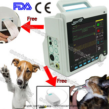 CE Portable Veterinary VET patient Monitor 6-parameters ICU with Printer,ETCO2