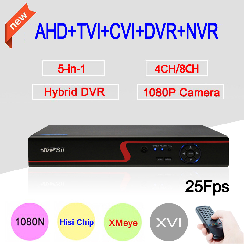 1080P Surveillance Camera Red Panel XMeye 1080N 8CH/4CH 25fps 6 in 1 Coaxial Hybrid Wifi NVR CVI TVI AHD CCTV DVR Free Shipping gadinan 8ch ahdnh 1080n dvr analog ip ahd tvi cvi 5 in 1 dvr 4ch analog 1080p support 8 channel ahd 1080n 4ch 1080p playback