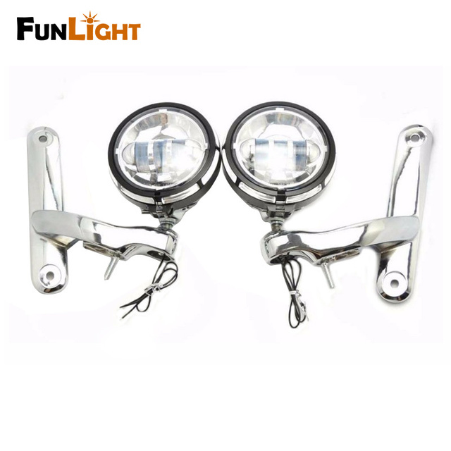 4.5inch headlight +4.5 inch Chrome Housing Bracket Mount Ring Bracket For Harley Motorcycle  Auxiliary Fog Passing Light Lamp