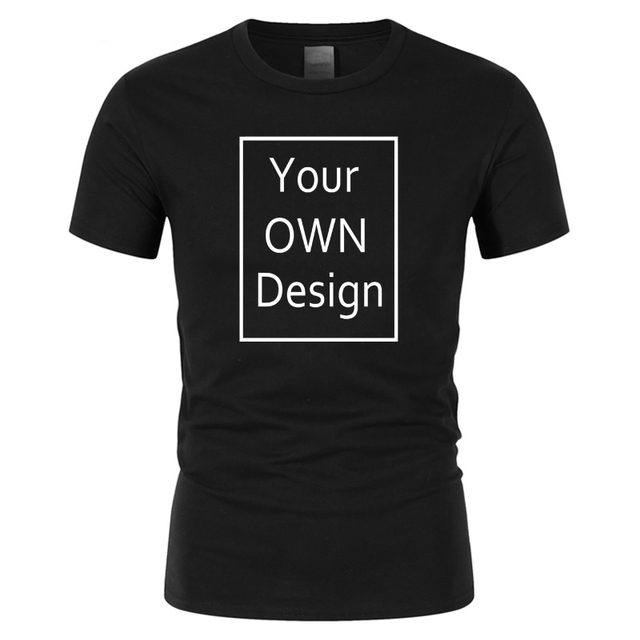 Your OWN Design Brand Logo/Picture Custom Men and women DIY Cotton T shirt Short sleeve Casual T-shirt tops clothes Tee