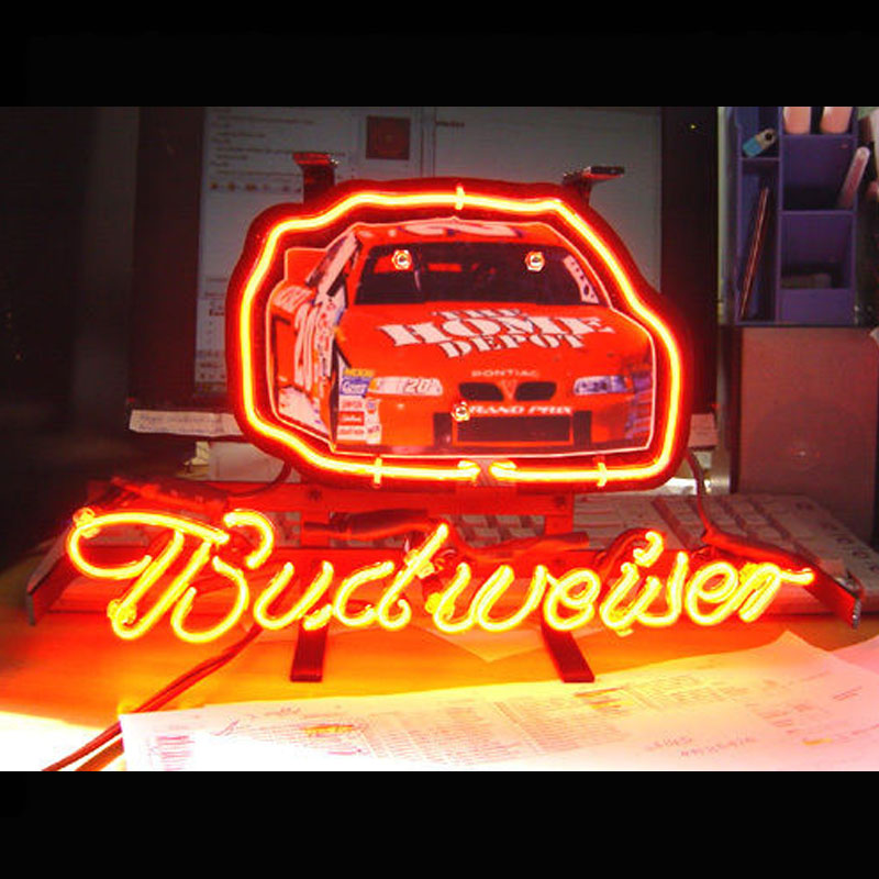 Neon Sign Race Car Neon Light Sign BUDWEISE Sign Basketball Clevelan COWBOYS Bird COORS Light TIGERS GUINNESS PIRATES box360
