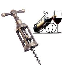 Штопор винная бутылка ручка для открывания под давлением винтажный сплав красного винограда штопор кухонные инструменты аксессуары дропшиппинг