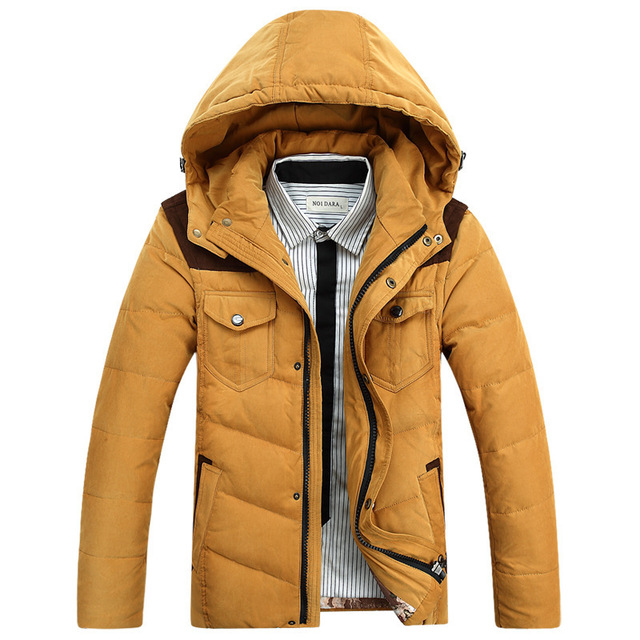 Thick Hooded Winter Duck   Down     Coat   Men