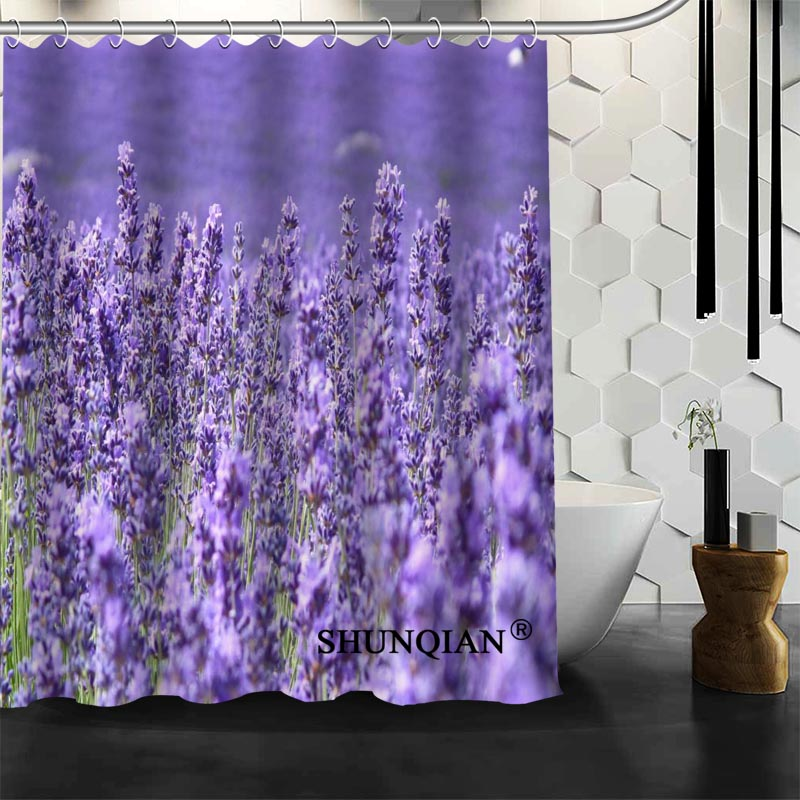 New Bathroom Curtains Lavender Shower Curtain Customized Shower ...