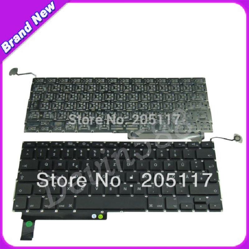 Wholesale Laptop German/GR Keyboard For Macbook Pro 15 A1286 Black 2009 2010 Years, FREE SHIPPING ! brand new azerty fr french keyboard backlight backlit 100pcs keyboard screws for macbook pro 15 4 a1286 2009 2012 years