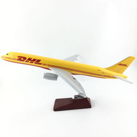 FREE SHIPPING 45 47CM 757 DHL AIR METAL BASE AND RESIN MODEL PLANE AIRCRAFT MODEL TOY AIRPLANE BIRTHDAY GIFT
