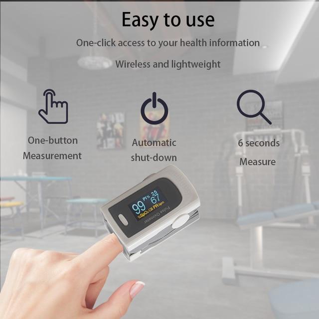 Household Health Monitors Oximeter CE Medical Heart Rate Monitor LED Fingertip Pulse Oximeter Finger Blood Oxygen 2