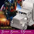 OPTIMUS PRIME 3D Metal assembling model Big truck puzzle 3 Sheets Exquisite desktop decoration Gifts for children
