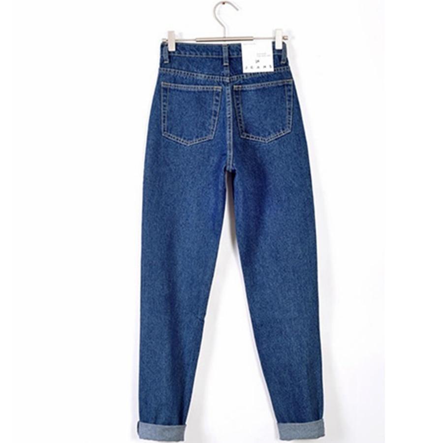 Vintage high waist jeans woman 2019 skinny black blue mom boyfriend jeans for women denim pants